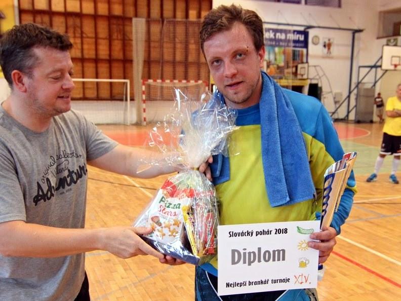 Nejlepším brankářem turnaje byl zvolen Richard Podškubka (Hoši od Bobří řeky)!